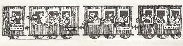 <b>Signori,  in carrozza! </b>   -  in  un trenino di corda  -