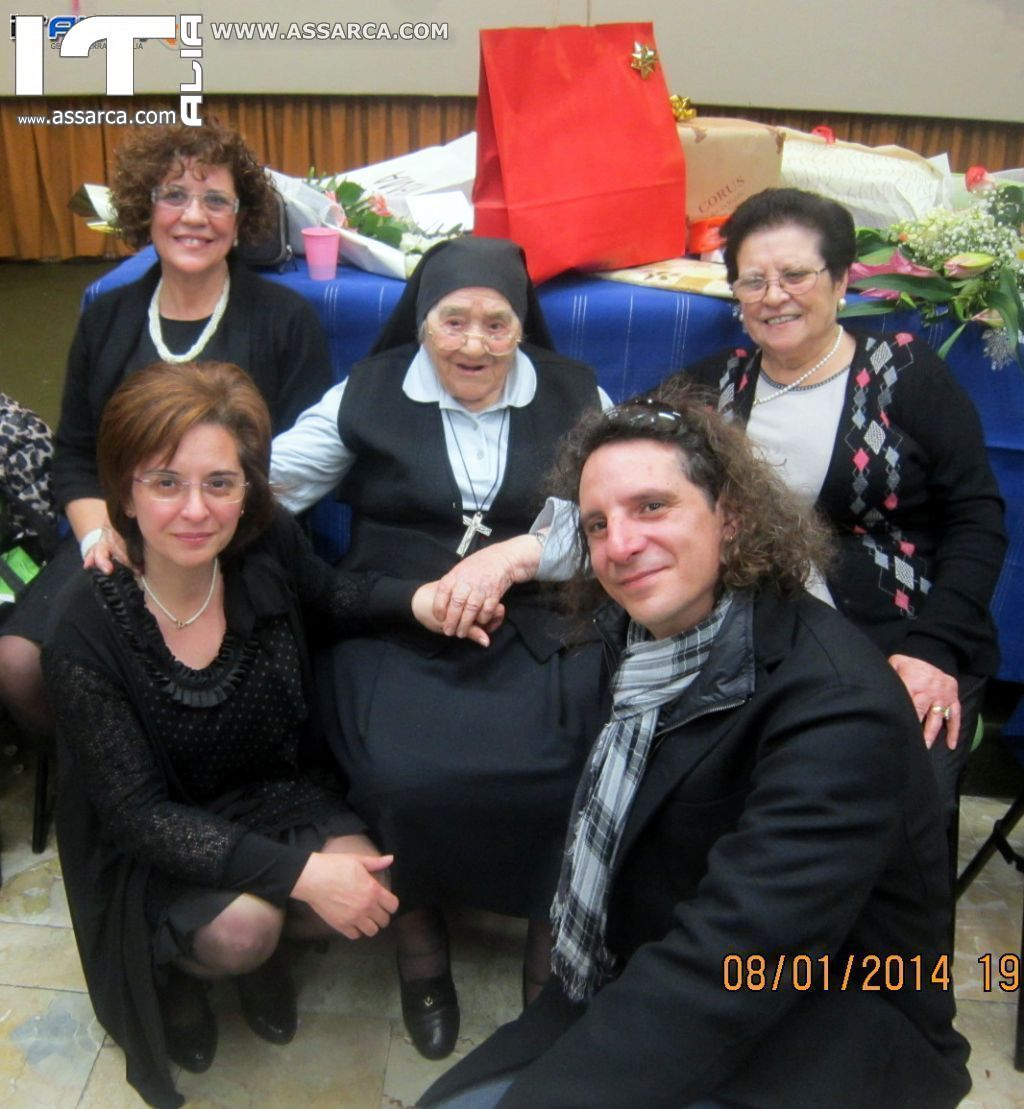 SUOR CELINA COMPIE 100 ANNI - PALERMO 8 GENNAIO 2014,
