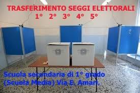 ELEZIONI. TRASFERIMENTO SEGGI ELETTORALI ALLA SCUOLA MEDIA VIA E.AMARI.