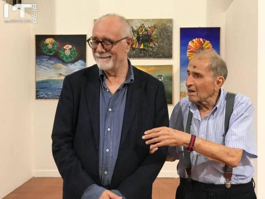 "Ghumbert  inaugura la mostra ""Convergenze"" a Taormina."