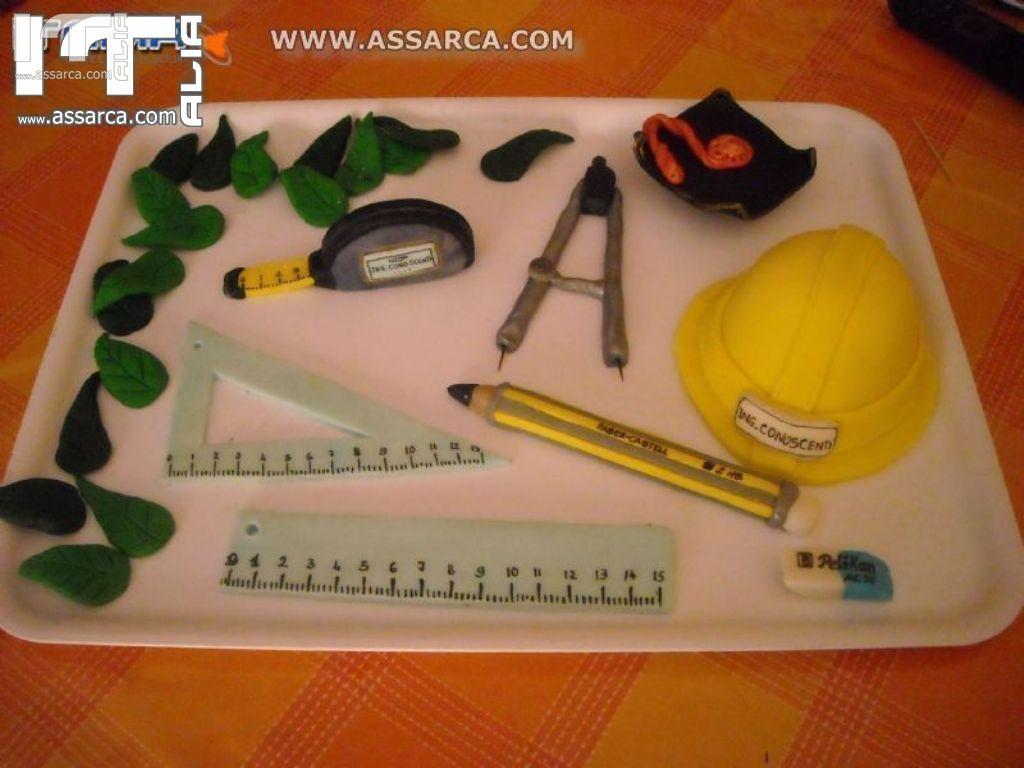 Decorazioni Sala Laurea : Decorazioni torta di laurea in ingegneria decorazioni in pasta