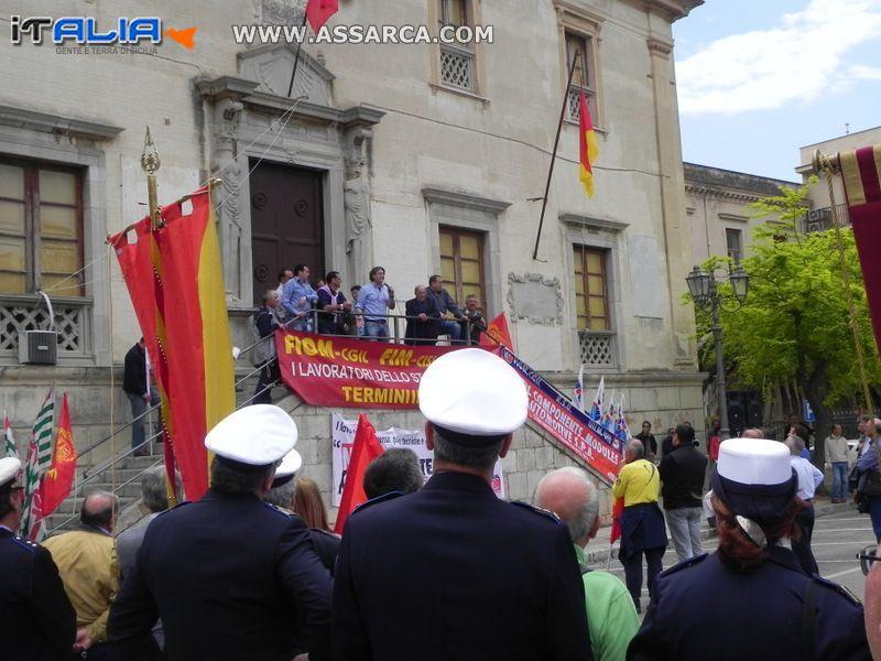 CRISI FIAT TERMINI IMERESE - MANIFESTAZIONE DEL 30 APRILE 2012
