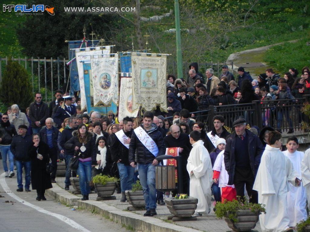ACCOGLIENZA DEL CORPO DI SANTA MARIA GORETTI A ROCCAPALUMBA  24/02/2014