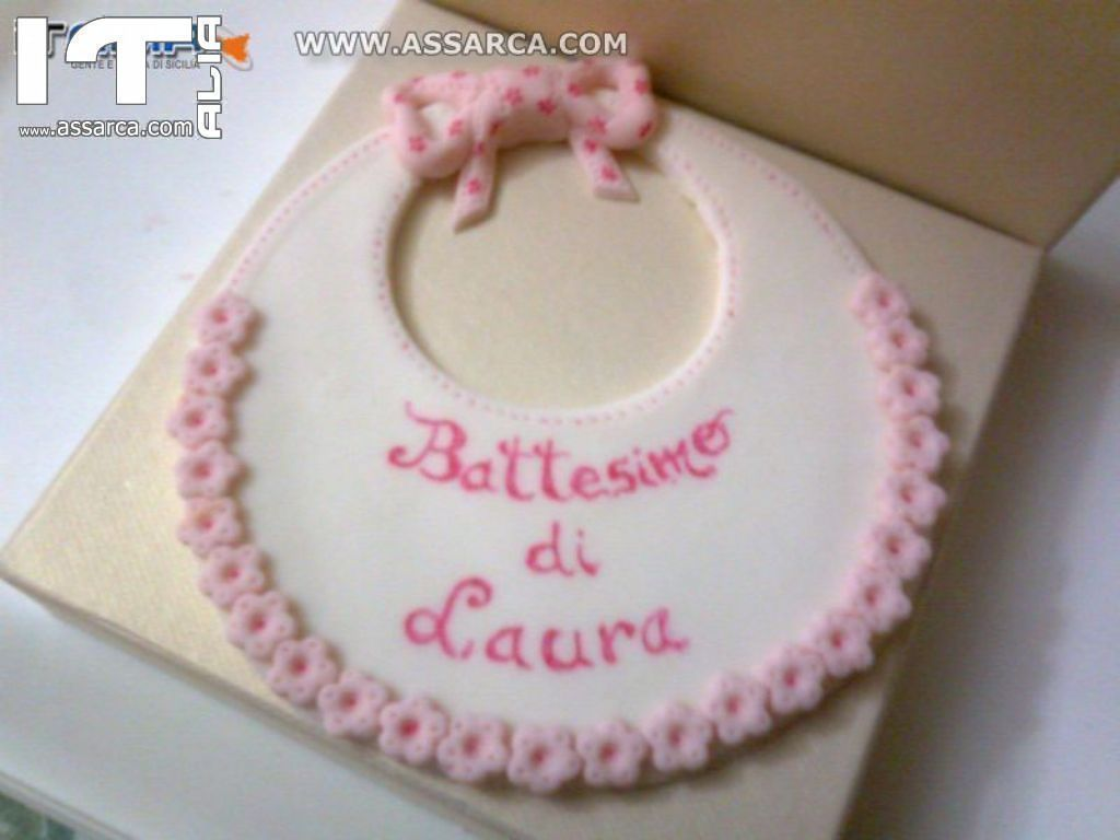 Decorazione Per Torta In Pasta Di Zucchero Bavaglino