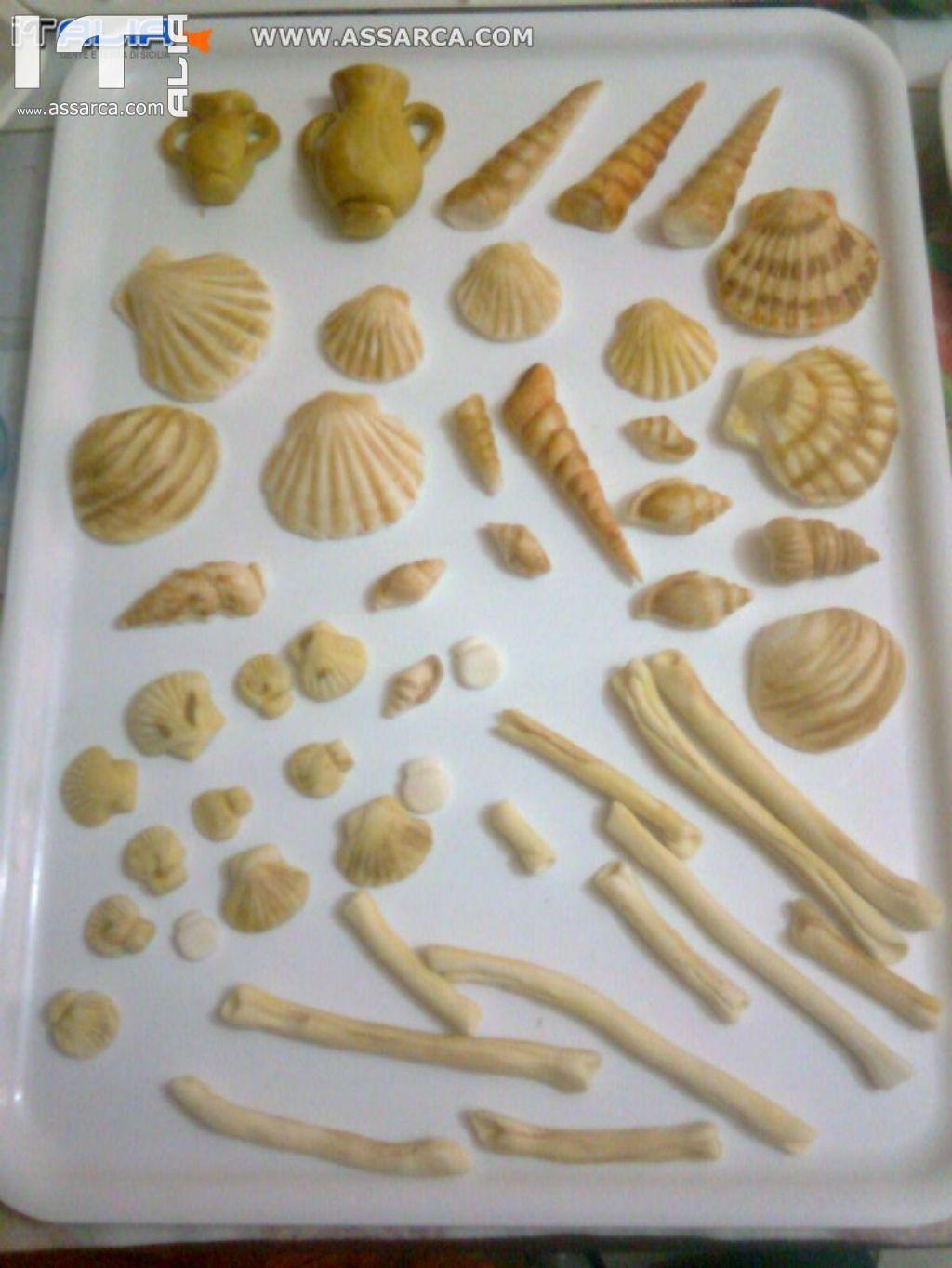 Conchiglie decorazioni in pasta di zucchero for Pasta di zucchero decorazioni