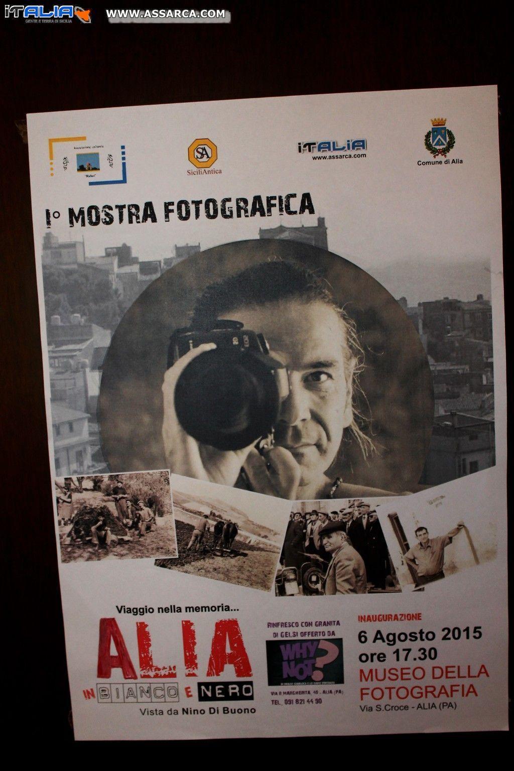 1^ MOSTRA FOTOGRAFICA - ALIA IN BIANCO E NERO VISTA DA NINO DI BUONO - ALIA 6 AGOSTO 2015
