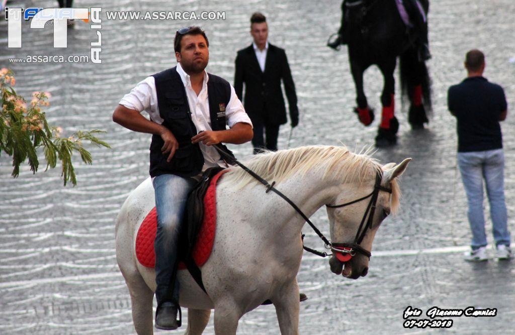 Sfilata di cavalli - Alia 7 Luglio 2013,