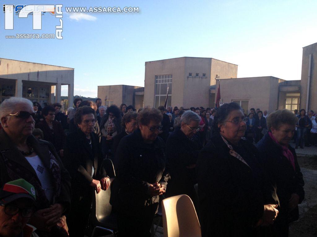 COMMEMORAZIONE DEI FEDELI DEFUNTI:CELEBRAZIONE EUCARISTICA AL CIMITERO ALIA, 2  NOVEMBRE 2013