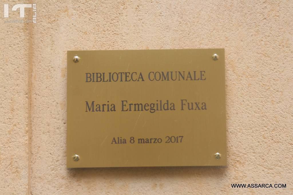 ALIA 8 MARZO 2017,INAUGURAZIONE DELLA BIBLIOTECA COMUNALE A MARIA FUXA.