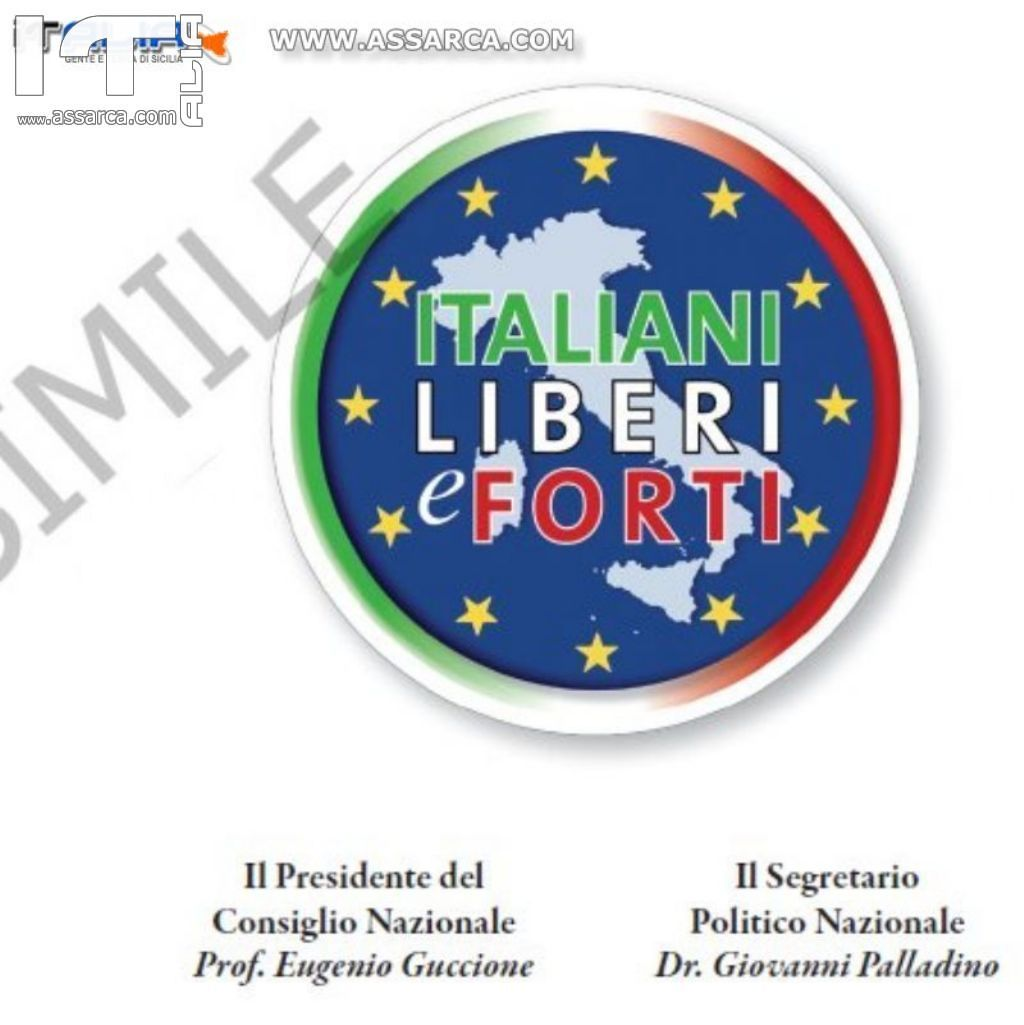 """EUGENIO GUCCIONE SCELTO COME PRESIDENTE DEL CONSIGLIO NAZIONALE DI """"ITALIANI LIBERI E FORTI""""."""