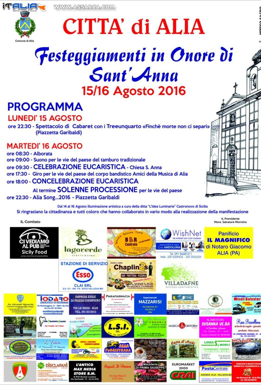 FESTEGGIAMENTI IN ONORE DI SANT`ANNA