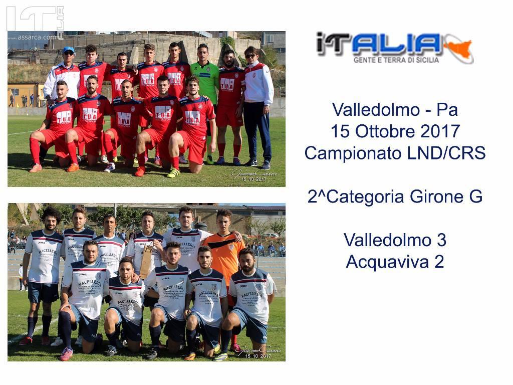 IL VALLEDOLMO VINCE NON CON POCA FATICA  - VALLEDOLMO 3 ACQUAVIVA 2 -  2 CTG GIRONE A