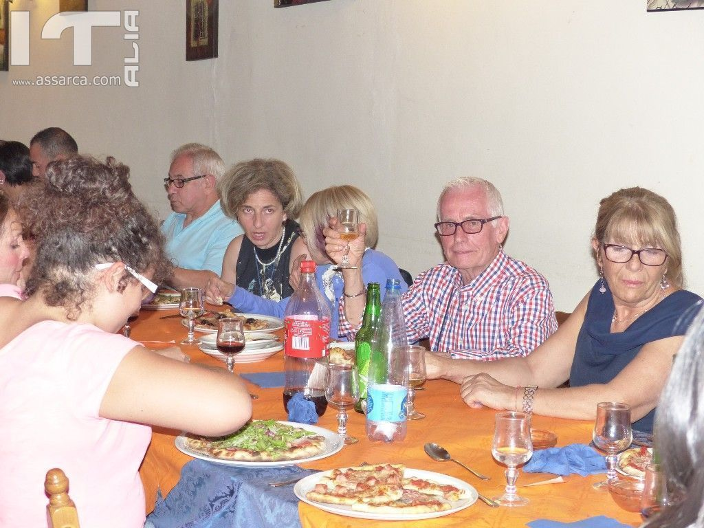 "BEAUTIFUL EVENING    "" PIZZA PARTY "" WITH ITALIAN / ENGLISH - 21 LUGLIO 2014 RISTORANTE CHAPLIN`S 2"