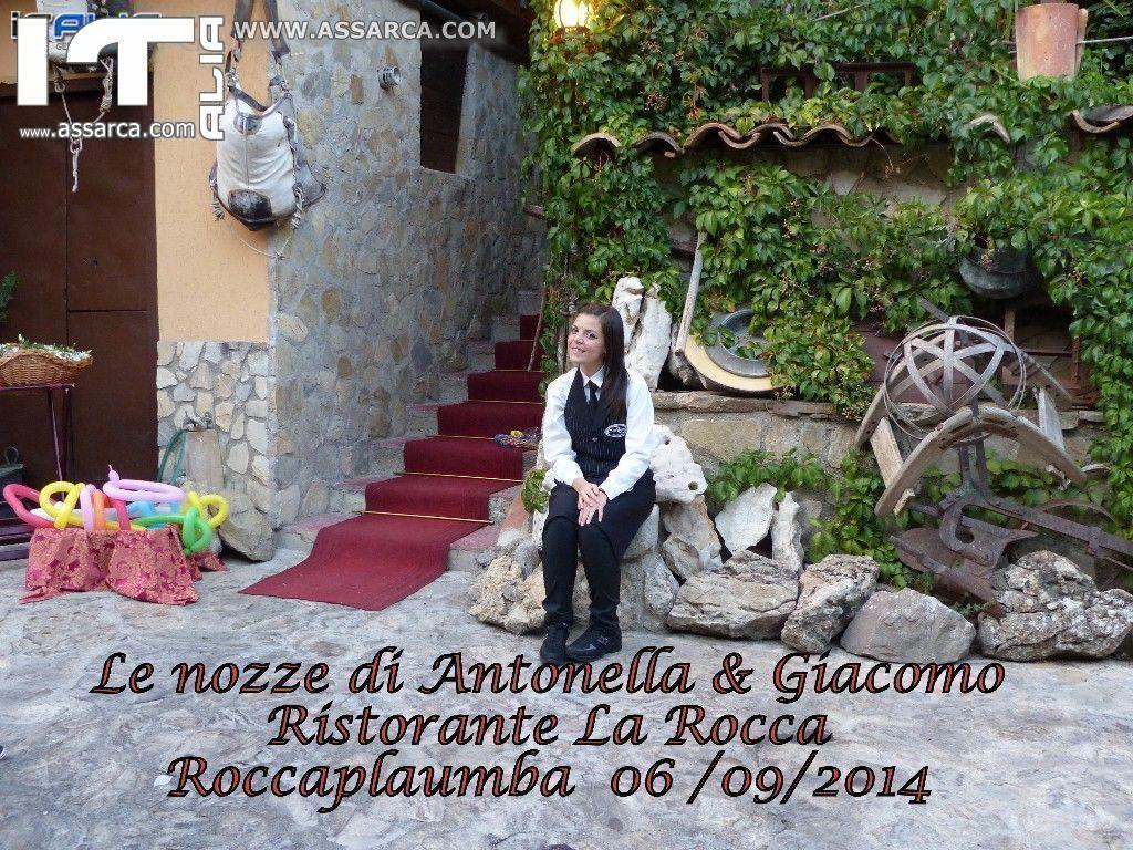 """LE NOZZE DI ANTONELLA & GIACOMO - SALA TRATTENIMENTI """" LA ROCCA """" ROCCAPALUMBA 06/09/2014"""