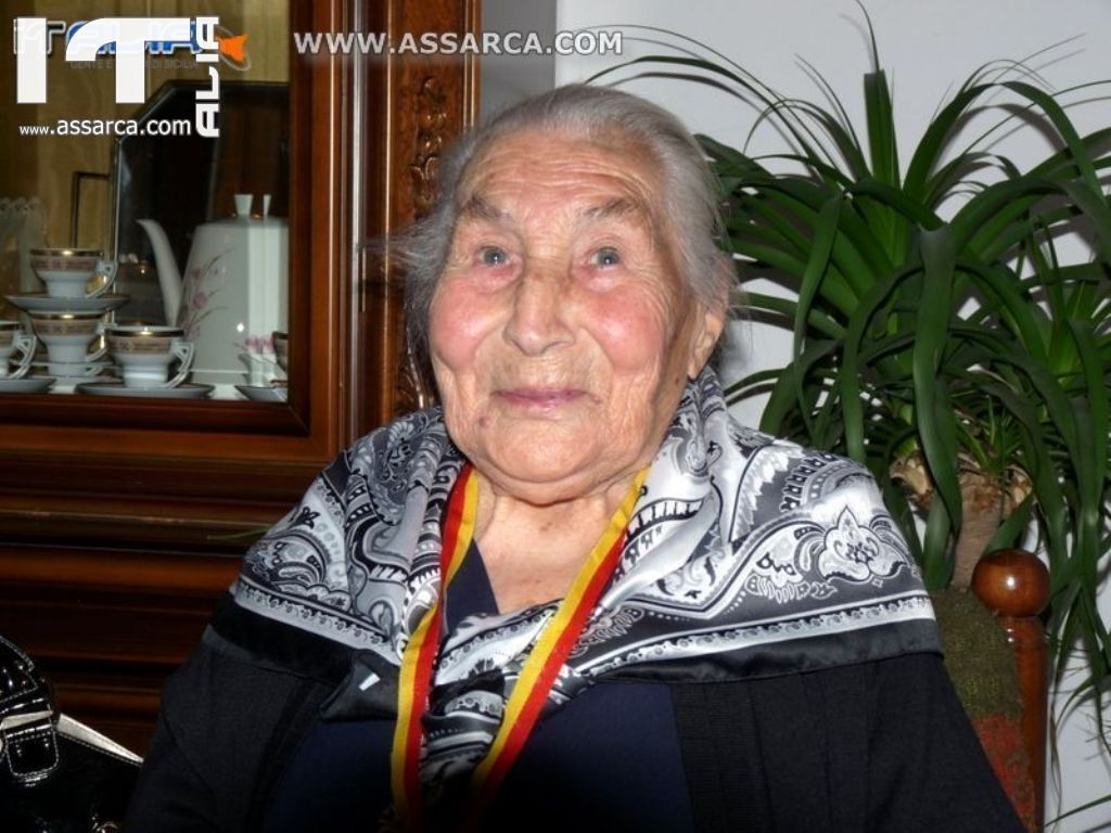 FESTEGGIATI I 100 ANNI DI NONNA MARIETTA ZIMBARDO - ALIA 24 MAGGIO 2010