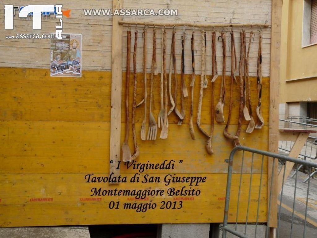 I VIRGINEDDI  -TAVOLATA DI SAN GIUSEPPE -  MONTEMAGGIORE BELSITO 01 MAGGIO 2013