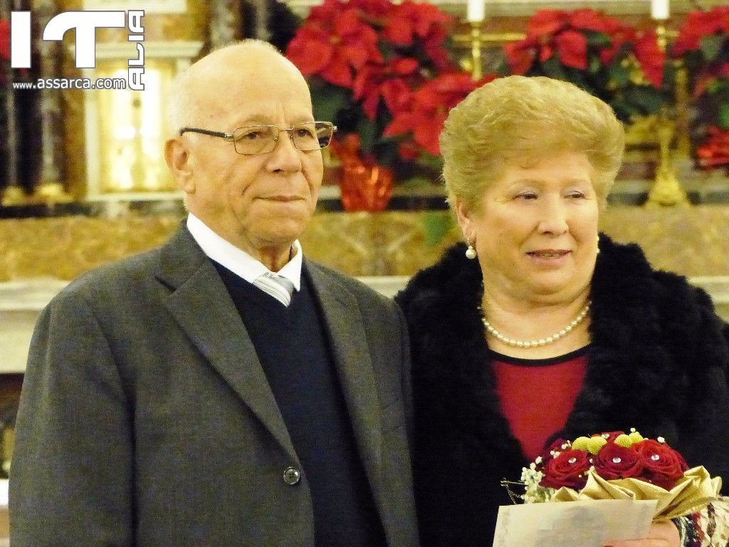 NOZZE D`ORO DI ANGELO E GIROLAMA -  ALIA SANTUARIO MARIA DELLE GRAZIE 28 /12/2016 I^ PARTE