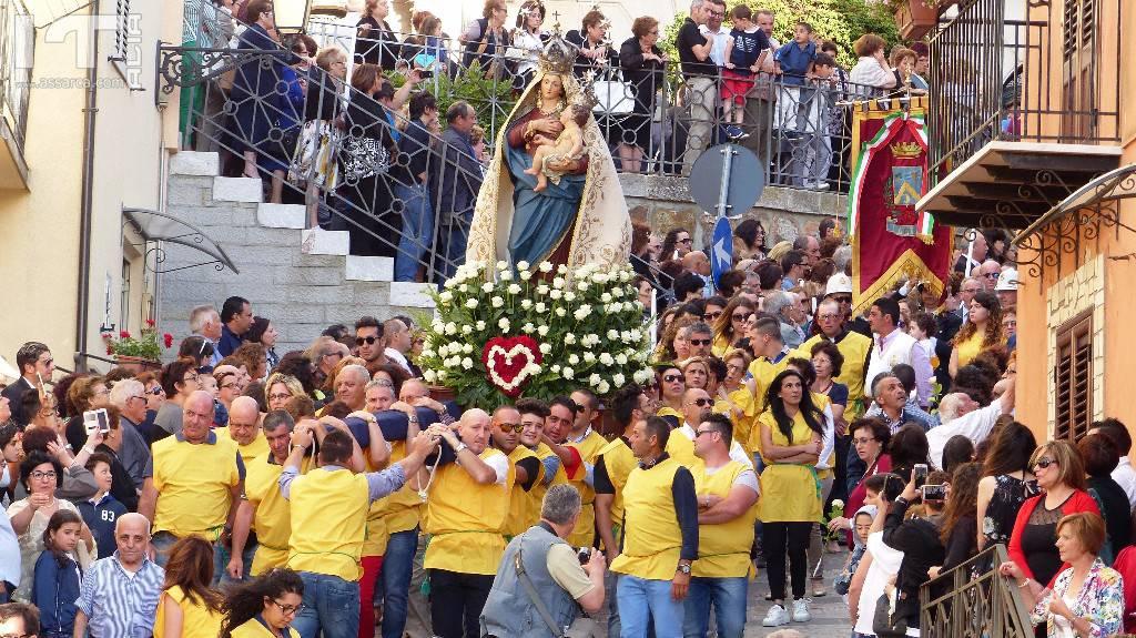 Processione con il Simulacro della Madonna delle Grazie -  Alia 02 Luglio 2017 -