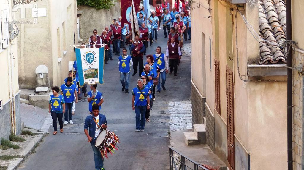 Immagini della Processione di Santa Rosalia,