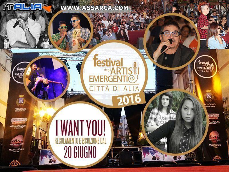 Festival degli Artisti Emergenti - Città di Alia  ISCRIZIONI DA LUNEDI` 20 GIUGNO