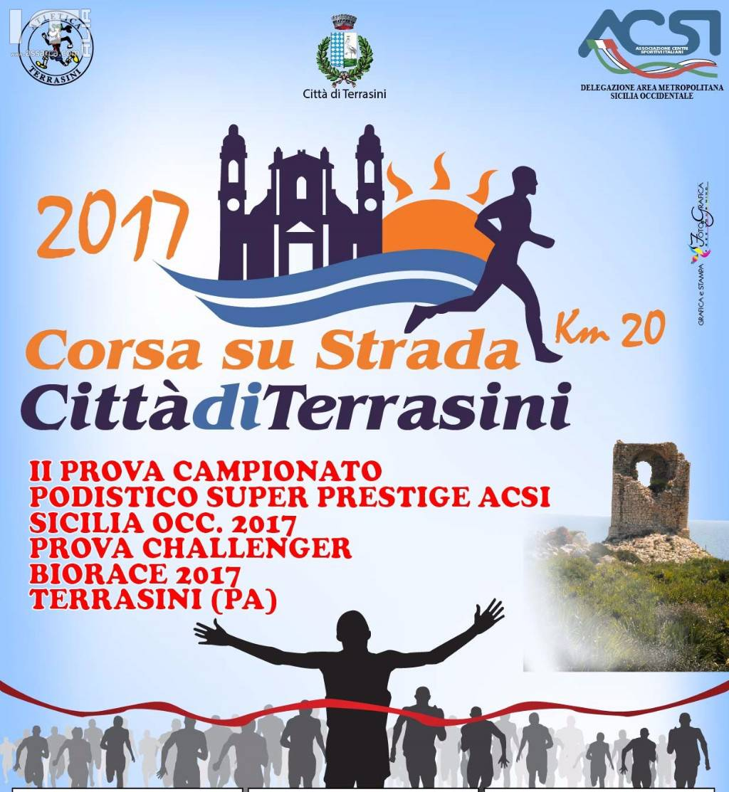 Podismo: A Terrasini si corre la 20km, oltre cinquecento atleti al via.