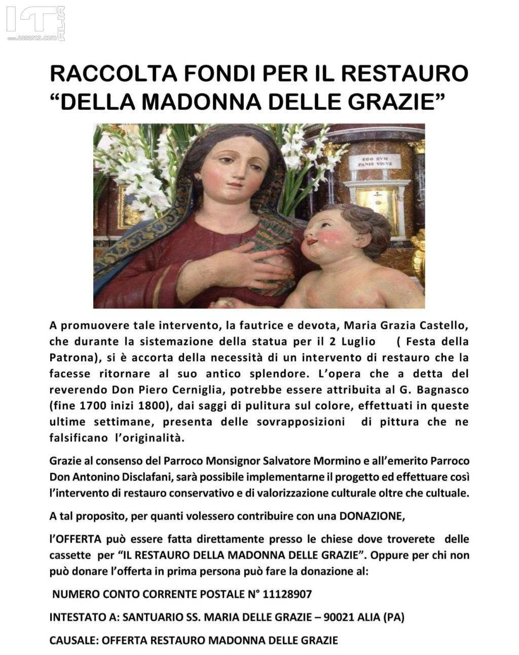 RESTAURO DELLA MADONA DELLE GRAZIE