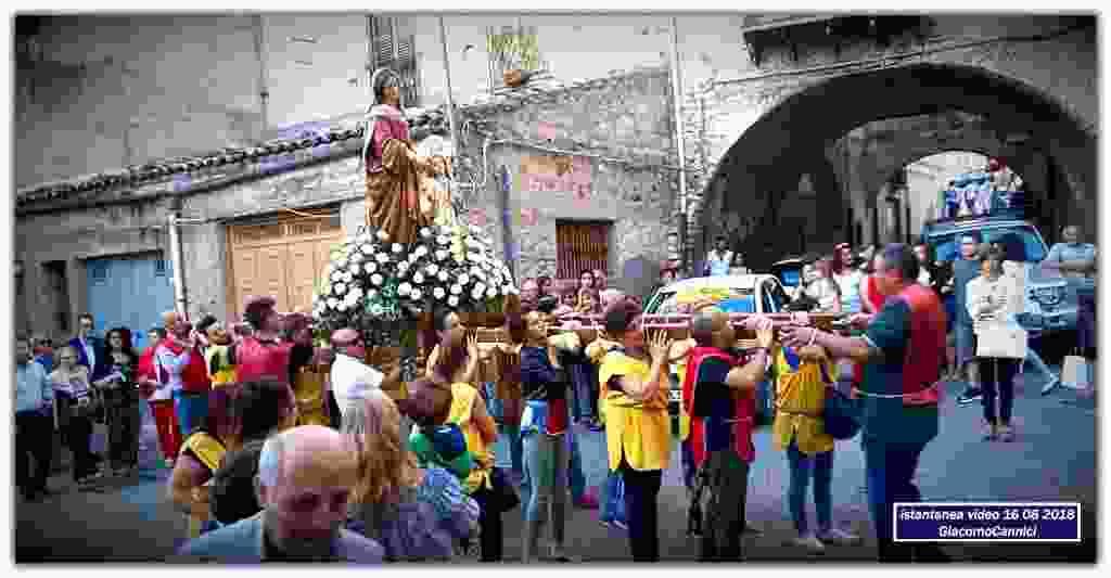 Processione Sant`Anna - Alia 16 Agosto 2018 - istantanee da video -
