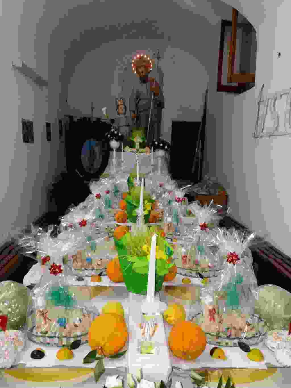 tavola di picuriddi confraternita SAN GIUSEPPE