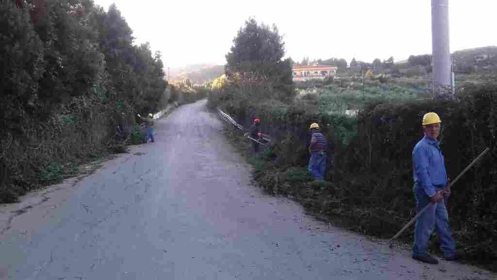 Operai forestali impiegati preso i siti del comune di Alia
