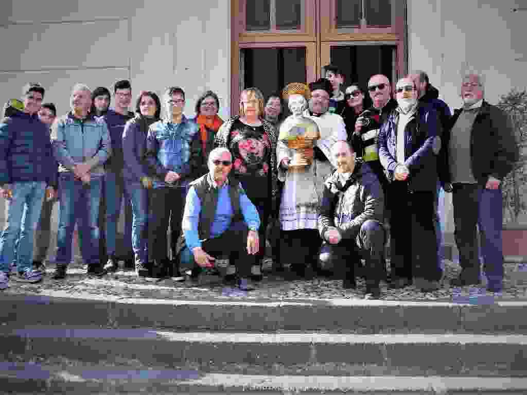 MALVAGNA - Viaggio itinerante nei luoghi di San Cremete (1000 anni dopo) aricordo della visita del busto reliquiario nella Parrocchia di Malvagna (ME)