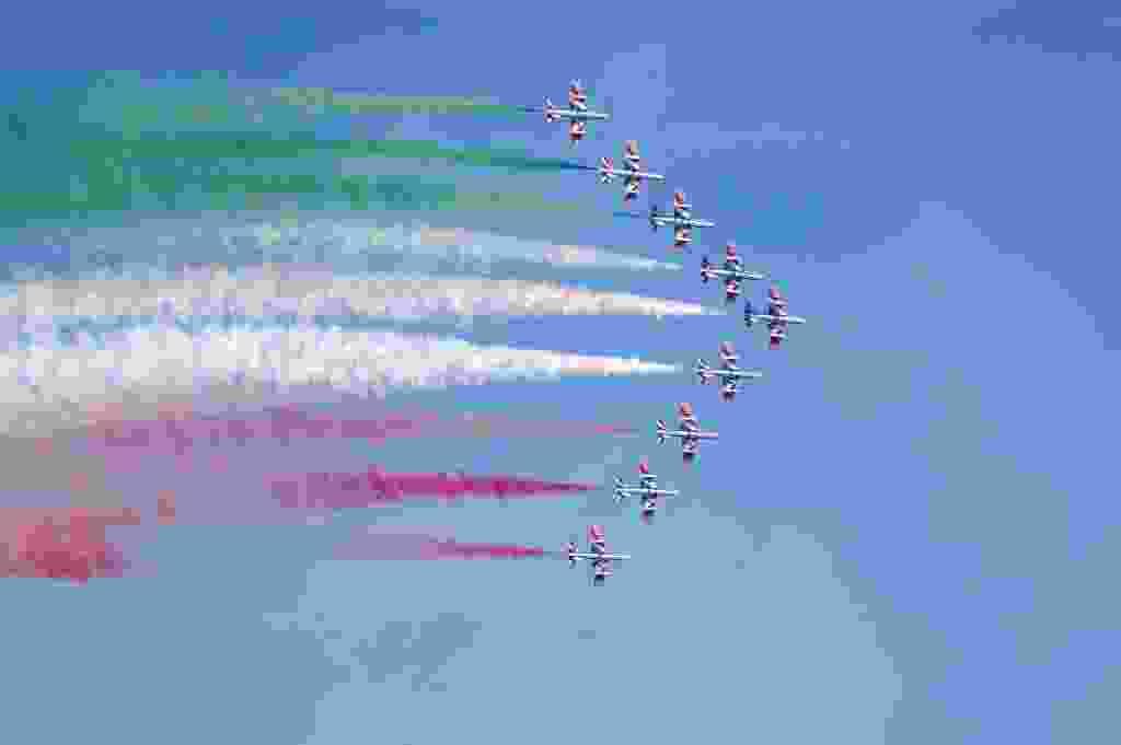 """La Pattuglia Acrobatica delle """" Frecce Tricolori """" a Giardini Naxos (ME) - 18/06/2017 -"""