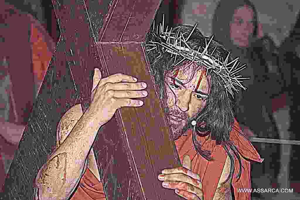 Condanna e crocifissione,via Crucis a Roccapalumba. 08 aprile 2017.