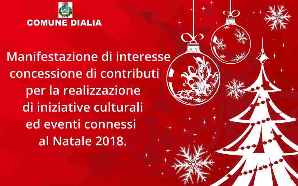 MANIFESTAZIONE DI INTERESSE CONCESSIONE CONTRIBUTI INIZIATIVE CULTURALI ED EVENTI CONNESSI AL NATALE 2018