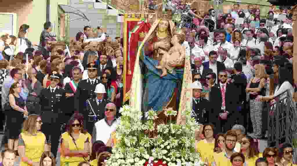 Processione con il Simulacro della Madonna delle Grazie - Alia 02 Luglio 2018