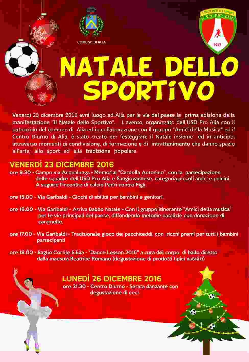 Il Natale dello Sportivo