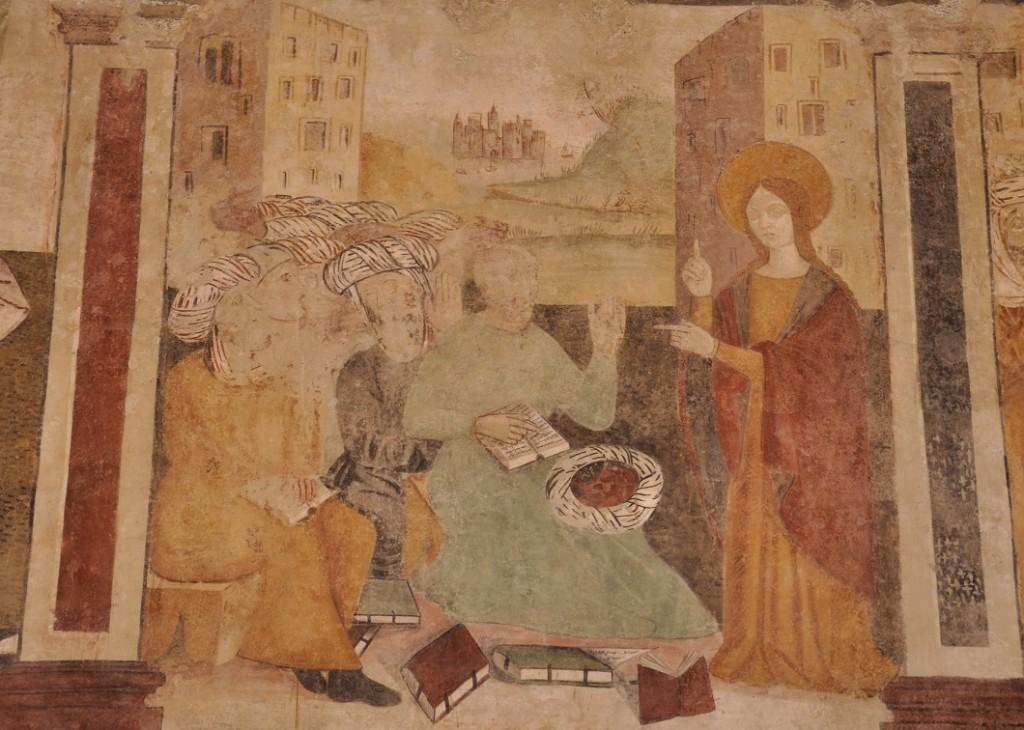 Nell�alveo dell�antica tradizione universitaria europea: presentazione del ciclo pittorico nella medievale chiesa di S. Caterina di Alessandria