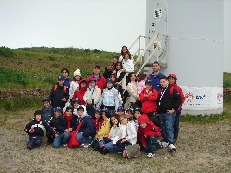 Caltavuturo:Visita alla centrale eolica Enel
