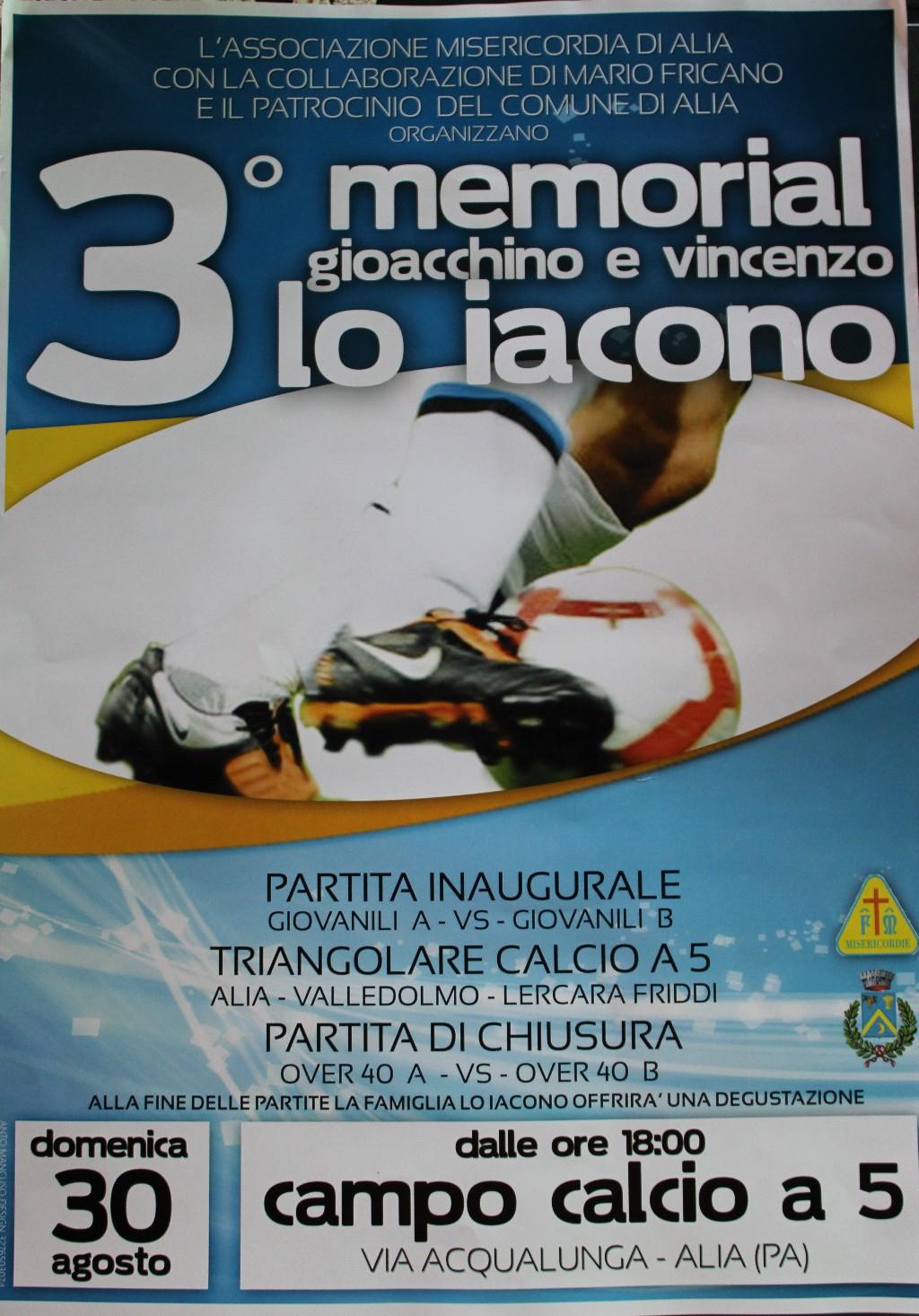 Alia (PA) - 3� Memorial Gioacchino e Vincenzo Lo Iacono