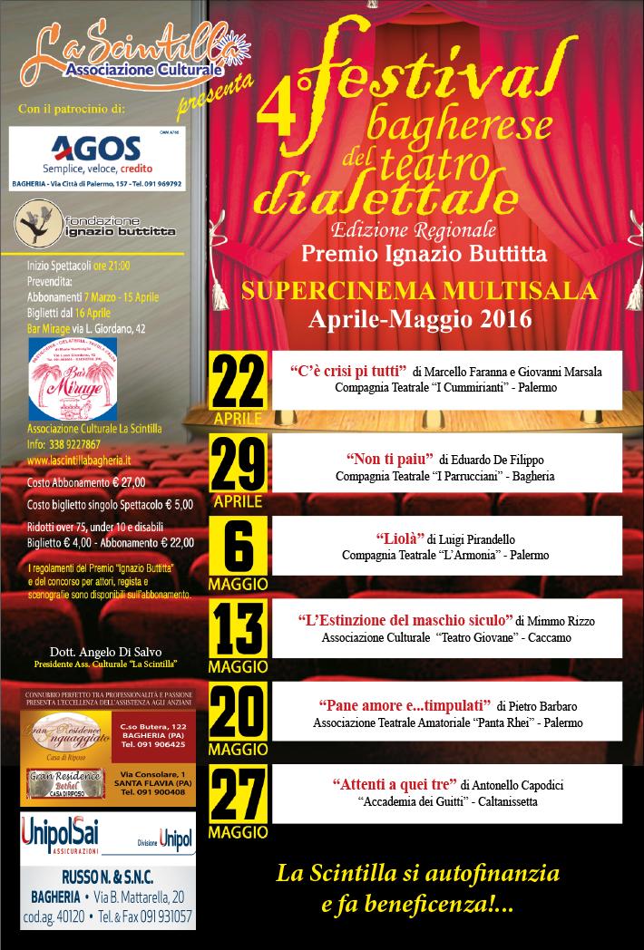 Ritorna in scena il 4° Festival Bagherese del Teatro Dialettale