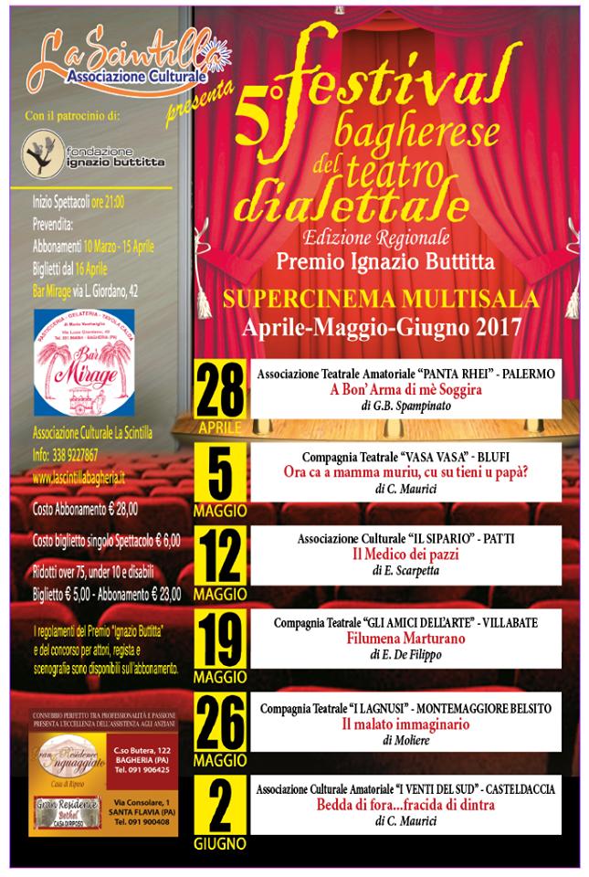 Il  5° �Festival Bagherese del Teatro Dialettale� apre con �A Bon�Arma di mè Soggira�