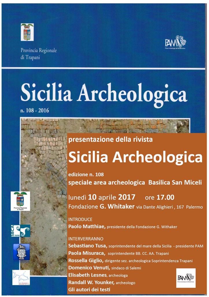 Presentazione della rivista Sicilia Archeologica