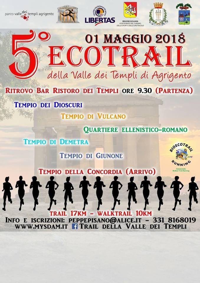 Podismo: Un 1° Maggio speciale di corsa per la Valle dei Templi di Agrigento con il BioEco Trail.