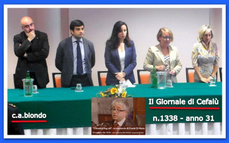 CEFALU`:I valori di Legalità e Solidarietà del magistrato Frank Di Maio