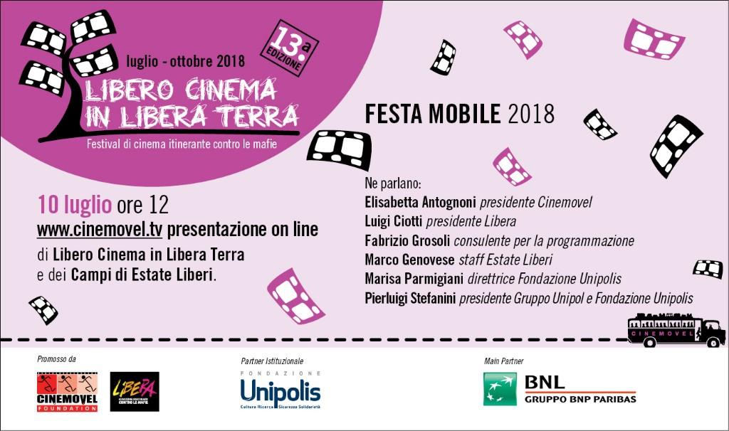 LIBERO CINEMA IN LIBERA TERRA. La tredicesima edizione si presenta online con una Festa Mobile alle 12 di martedì 10 Luglio