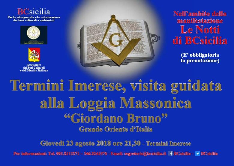 Termini Imerese  Visita guidata alla Loggia massonica �Giordano Bruno�