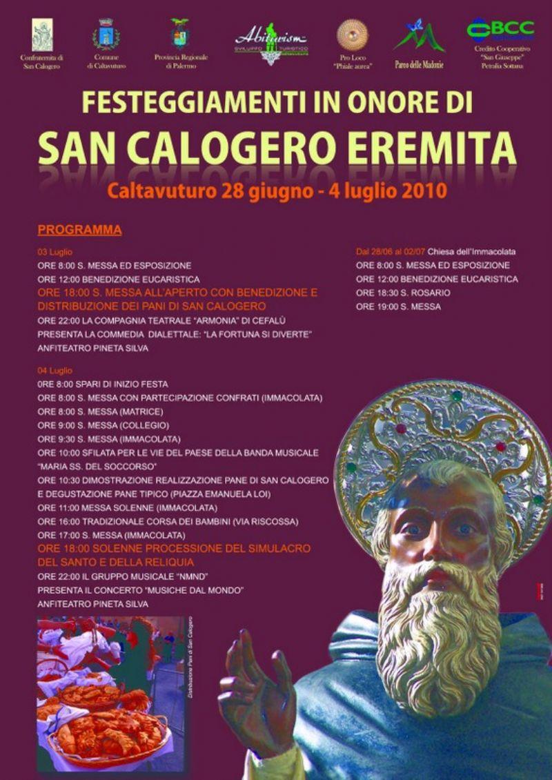 Caltavuturo : festeggiamenti in onore di San Calogero Eremita