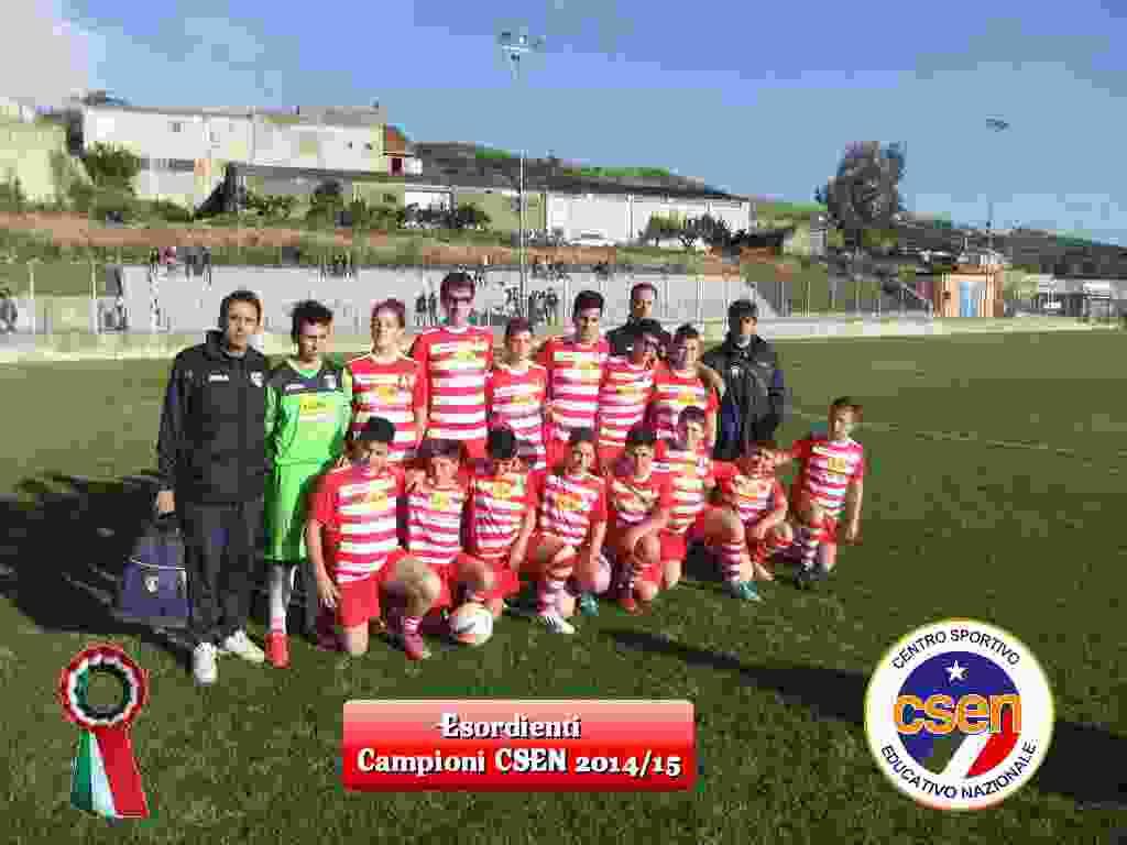 Gli esordienti dell`U.S.D. Pro Alia vincono il campionato CSEN 2014/2015