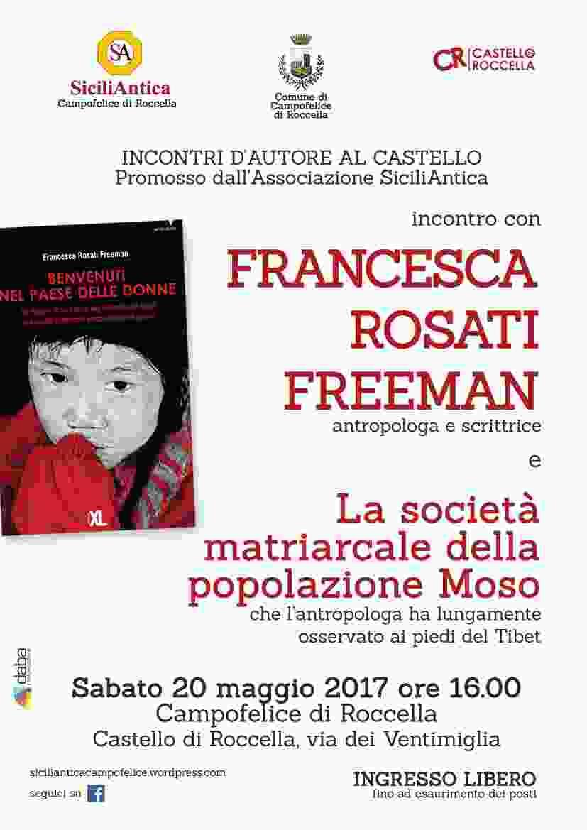 L`antropologa e scrittrice Francesca Rosati Freeman a Campofelice di Roccella per Incontri d`autore al Castello