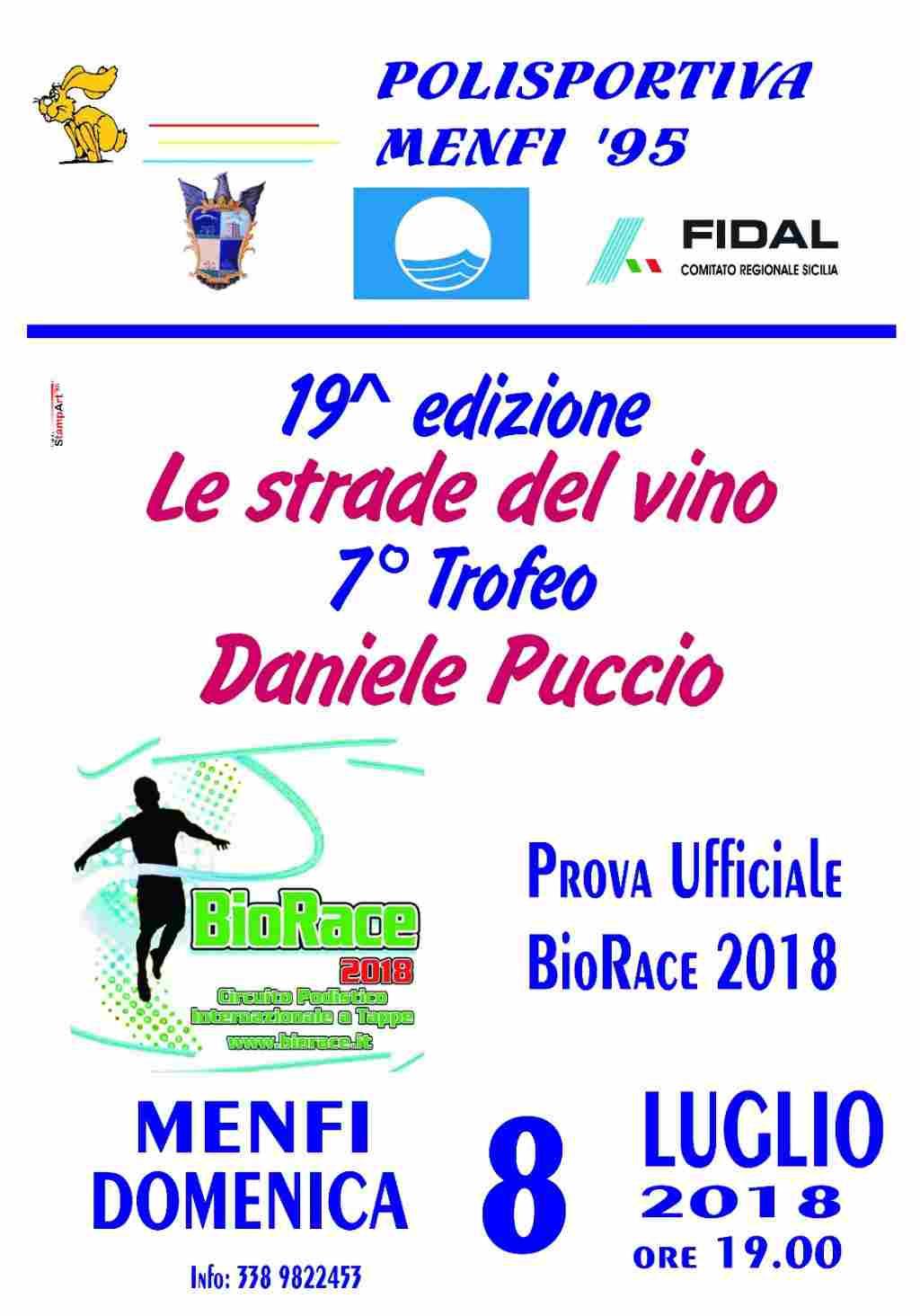 Podismo: Il BioRace per la prima volta a Menfi in occasione della 19°Le Strade del Vino