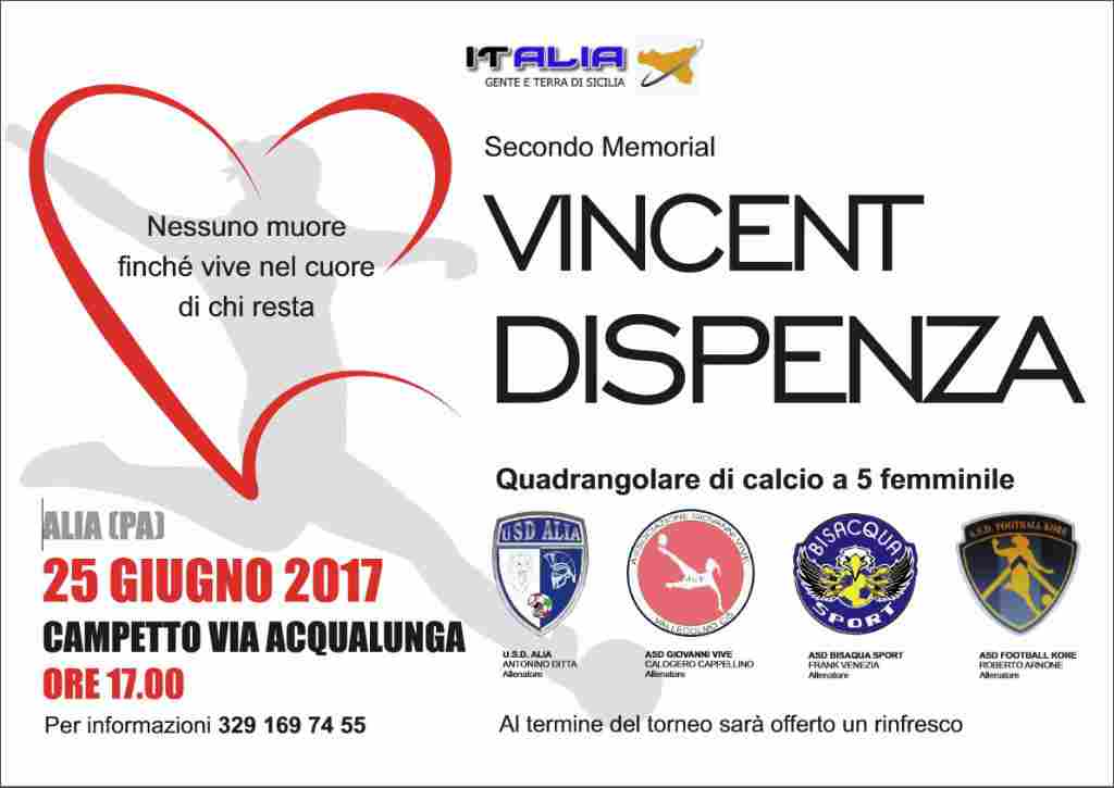 ALIA (PA) - SECONDO MEMORIAL VINCENT DISPENZA